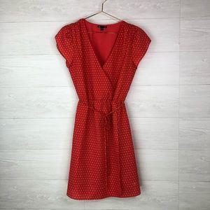 Gap Dress Size Small Red Polka Dot